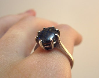 Boulder Opal Handmade Sterling Ring size 7 Subtle Shimmer