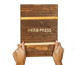 HERB PRESS - large - wood leaves flowers and plants press for herbarium - HERB0L61
