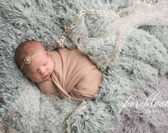 Simple Newborn Headband Gold Headband Gold Baby Bling Rhinestone Headband Baby Rhinestone Headband Vintage Newborn Photo Prop