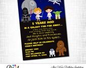 STAR WARS Birthday Invitation, Printable Star Wars Invitation, Digital File