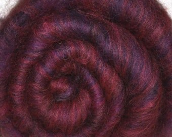Fiber batt for spinning and felting - Drum carded mixed fiber batt - 1.8 ounces - Anguished Artist