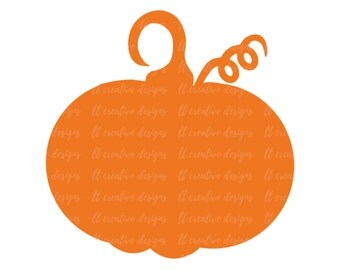 Pumpkin SVG, Pumpkin, Thanksgiving SVG, Fall SVG, Autumn Svg, Silhouette Cut Files, Cricut Cut Files
