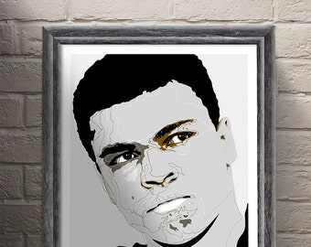 Muhammad Ali - Greatest of all time - Heavyweight champion of the world - Cassius Clay Art Print.