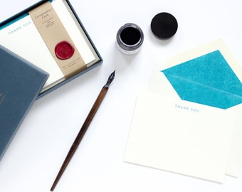 Letterpress Thank You Correspondence Cards