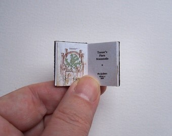 Dolls' House Miniature Book - Turner's Flora Mammalis (leather bound)
