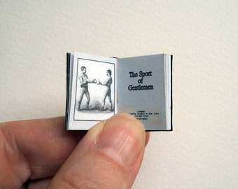 Dolls' House Miniature Book - The Sport of Gentleman (leather bound)