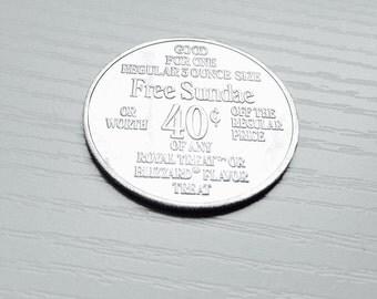 Vintage Dairy Queen 40 Cents off Token