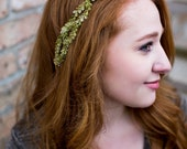 Leaf Headpiece. Bridal Accessories, leave crown, leaf crown, boho headpiece. Woodland, spring,  bridal hair accessories