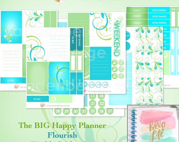 The BIG Happy Planner Flourish- Weekly Planner Sticker Kit forthe MAMBI BIG Happy Planner