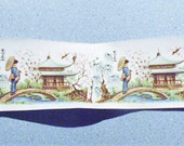 Beautiful - Vintage - Water Mount Decal - Oriental Asian Decor - Extra Long Scene with Three Women Ladies