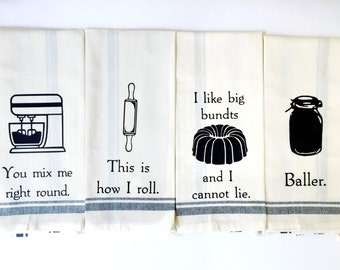 Funny Kitchen Towels - Funny Dish Towel - Funny Towels - Hand Towel - Dish Cloths - Wedding Gift - Hostess Gift - Housewarming Gift