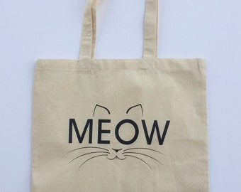 Cat Tote Bag MEOW