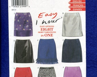 New Look 6789 Easy to Sew Mini Skirts Size 6 to 16 UNCUT