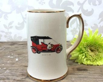 Vintage Sadler Austin Beer Stein, ceramic, 1970's, tankard, perfect, ready to gift, old car,