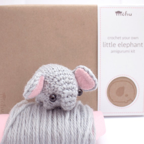 Amigurumi Beginner Kit : crochet kit amigurumi elephant by mohustore on Etsy