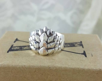 Dragon Scales Ring in Sterling silver, silver dragon ring, game of thrones ring, mother of dragons jewelry, silver dragon jewelry, wide band