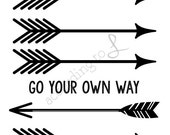 Go Your Own Way Wall Decor Instant Printable