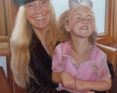 Reserved for Jennifer - CUSTOM PORTRAIT Oil Painting Perfect gift -16x20