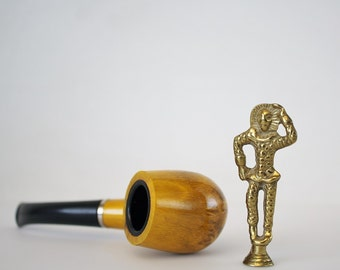 Vintage Brass Jester Pipe Tamper - Virginia Metalcrafters Brass Figurine - Pipe Smoking Accessories Tobacciana