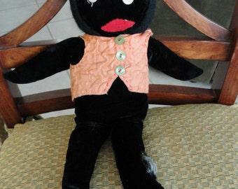 B468)  Vintage Handmade Golliwog doll Jim Crow doll