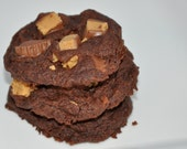 Reese's Peanut Butter Double Chocolate Chunky Cookies  Egg Free Edible Gift!