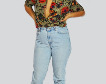 90s Let's Play Polo Blouse XS-L