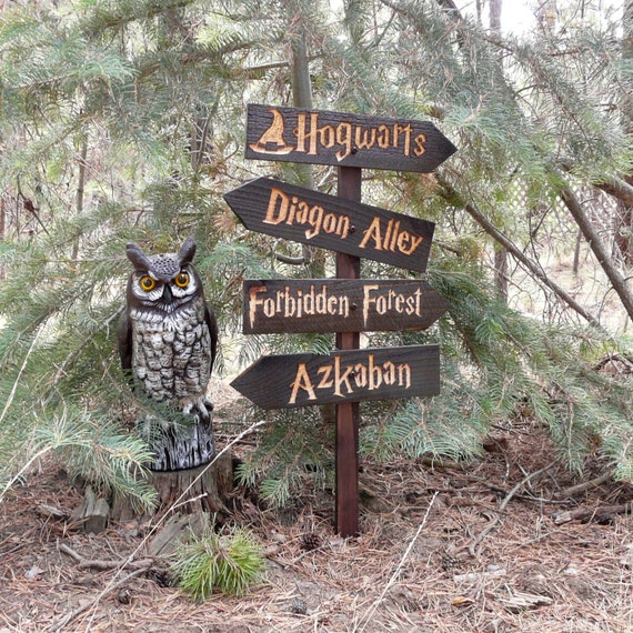 Harry Potter inspired lawn ornament