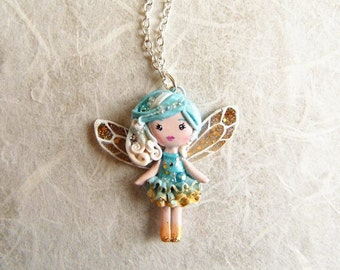 On sale!! 20% discounted! Fairy of Good Thoughts. Pixie necklace. One of a kind.