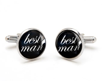 Best Man Cufflinks - Gift from Groom to Best Man - Wedding Cufflinks - Unique Gift for Best Man - Suit Accessories