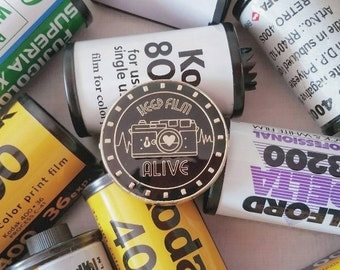 Keep Film Alive Enamel Pin