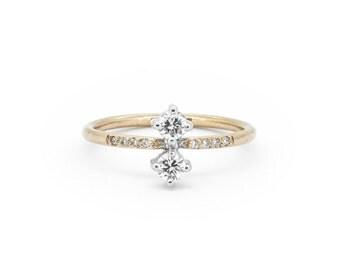 The Clara Ring - 18ct Gold Diamond Engagement Ring