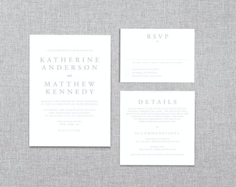 Printable Wedding Invitation Template - Instant Download - Infinity - Easy DIY Word Template