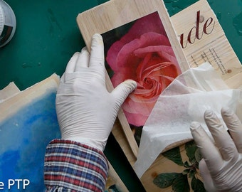 5 SAMPLE PAPER - Image transfer paper for wood, stretched canvas, watercolor paper etc.
