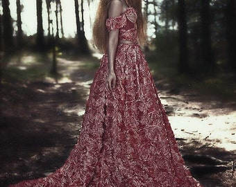 READY TO SHIP Romantic pink rose goddess Gown
