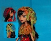 Set of 2 Hats & Cowl for Monster High Dolls Beanie