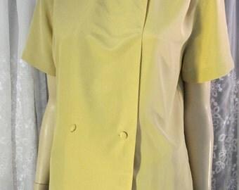 Vintage 90's Jones New York SS mustard blouse size 12P