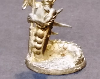 "1-3/8"" Super Tiny Pewter Triton Figure - Exquisitely Detailed"