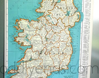 1939 Ireland Atlas Map