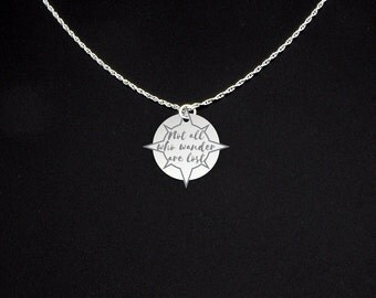Not All Who Wander Are Lost Necklace - Sterling Silver