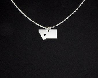 Montana Necklace - Montana Jewelry - Montana Gift