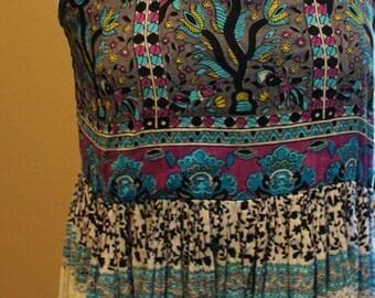 Bohemian summer Dress Indian Cotton dress small