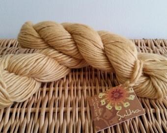 "Alpaca Blend, Wool Blend, Chunky Yarn Mirasol Sulka 232 ""Camel"" Merino Alpaca Silk"