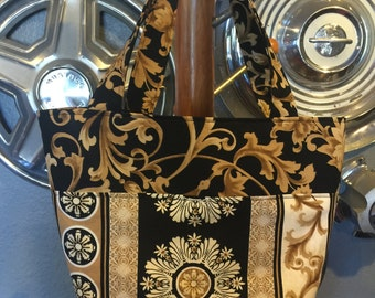 Black and Gold Tote