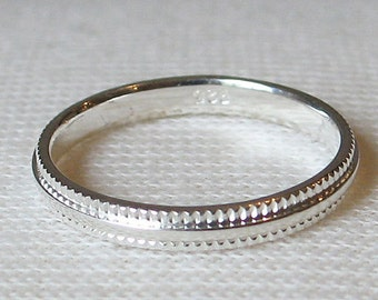 3mm Simple Sterling Silver Band Ring SIZE 6, 7