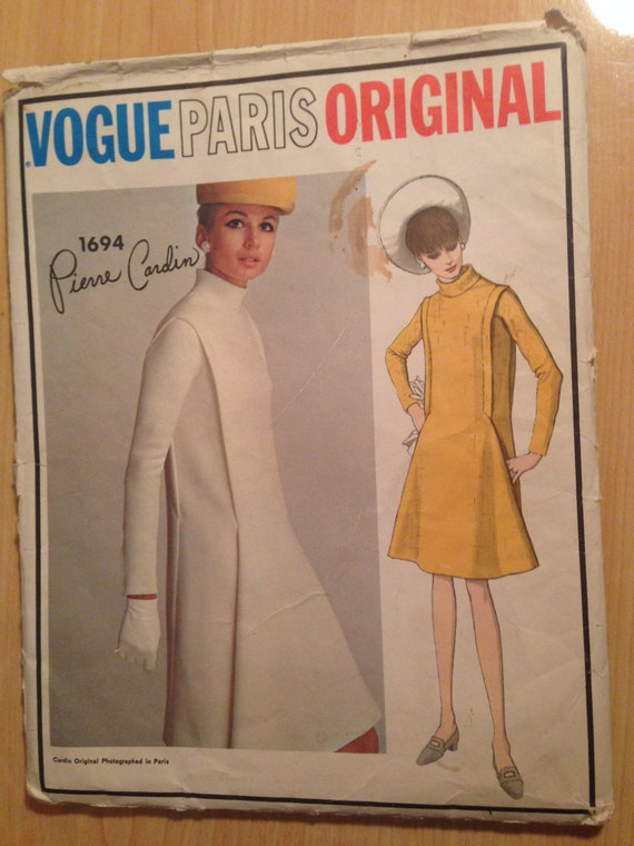 Vintage 60s Vogue Sewing Pattern 1694 Misses One Piece Dress Size 14 Uncut
