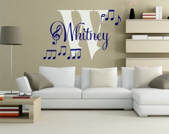 Music Note Wall Decal, Music Note Decor, Musical Wall Decal, Music Note Wall Part 34