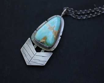 "Royston Turquoise Pendant, Arrow Pendant, ""Spirit of the American West Necklace"""