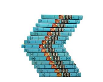 HARDY BOYS Book Collection, Decorative Books, CHildrens Books, Interior Design, Blue Boys Room Decor, kid books, dixon