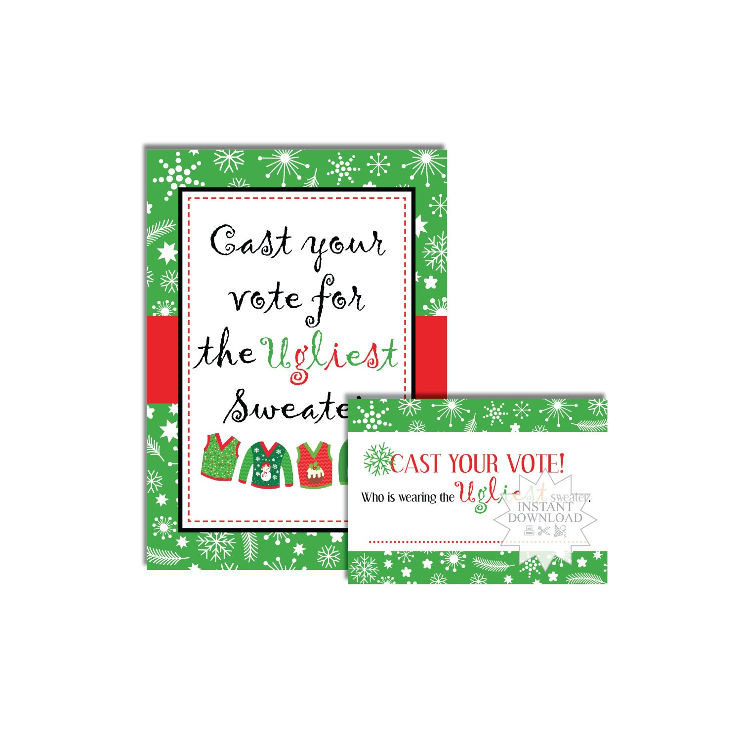 Ugly christmas sweater card