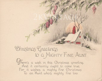 1920s christmas card | Etsy